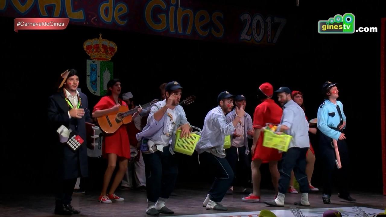 1, 2, 3… probando. Carnaval de Gines 2017 (Cuarta semifinal)