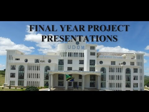 The University of Dodoma Final Year Project Presentations wmv