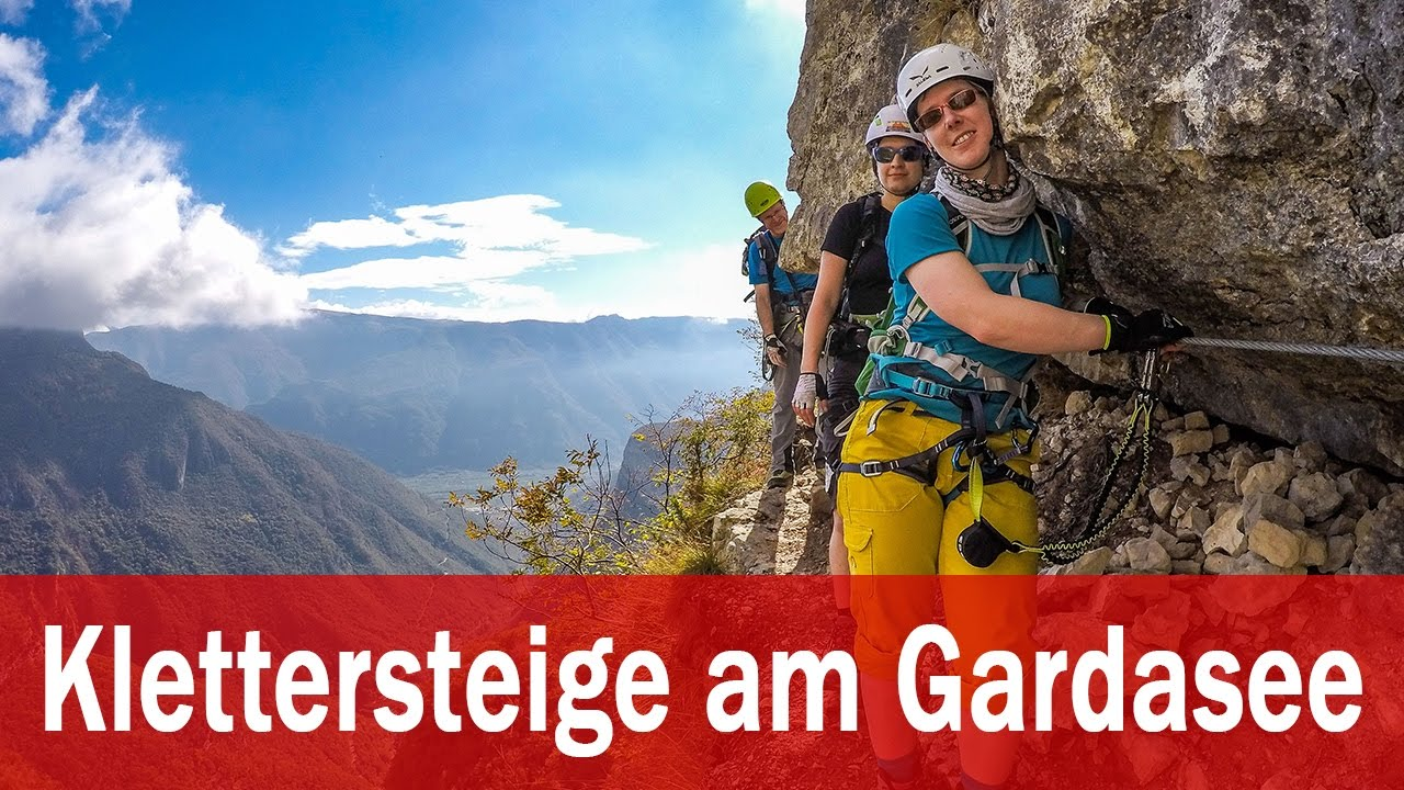 Klettersteig Rating : Klettersteige am gardasee youtube