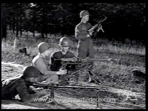 World War 2 Machine Gun Shootout: US versus German (1945)