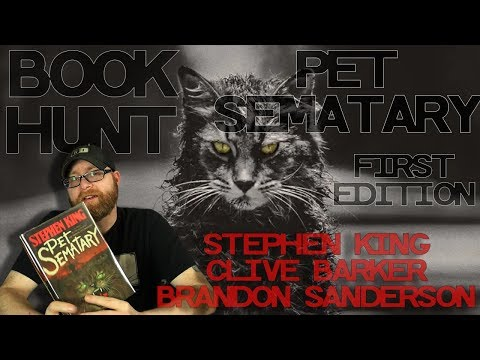 Book Hunting For First Edition Hardbacks! Pet Sematary First Edition And How To Recognize One!