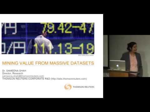 Mining Value From Massive Data Sources - Sameena Shah