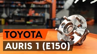 Kuinka vaihtaa takapyöränlaakerit TOYOTA AURIS 1 (E150) -merkkiseen autoon [AUTODOC -OHJEVIDEO]