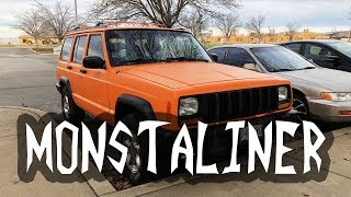 Monstaliner on a Jeep