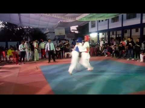 MP state senior Taekwondo championship held in Indore Mayank Jariya vs Amit prajapati