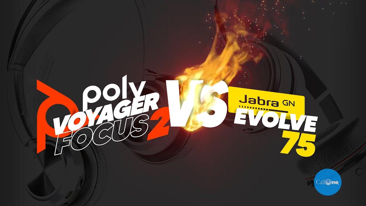 Download Jabra Evolve 75 vs Poly Voyager Focus 2 | Official Mic Test!