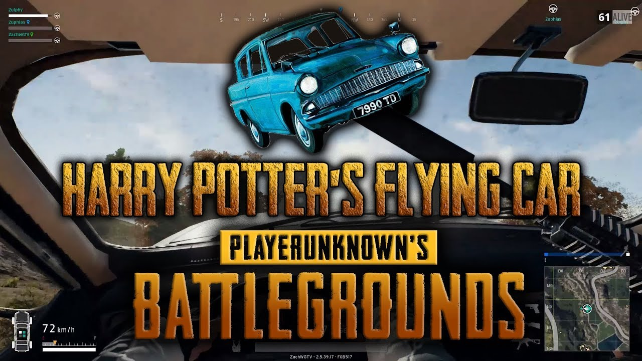 HARRY POTTER's FLYING CAR | PLAYERUNKNOWN'S BATTLEGROUNDS (Squad Gameplay)