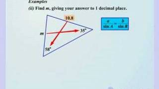 Maths - The Sine Rule when Finding a Side - Key Stage 4