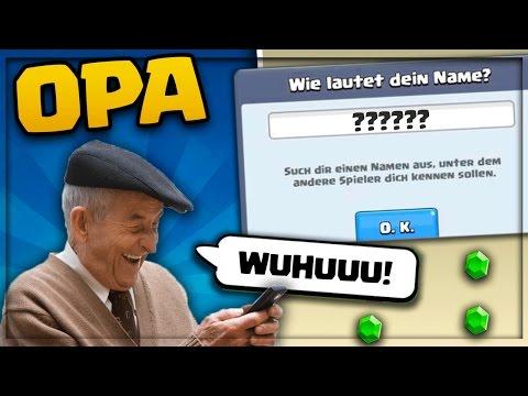 mein OPA BENENNT SEINEN ACCOUNT!! | OPA spielt CR + Arena 1 erreicht! | Clash Royale deutsch