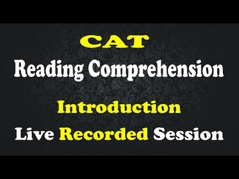 CAT Reading Comprehension- Recorded Session (4 RC passages)