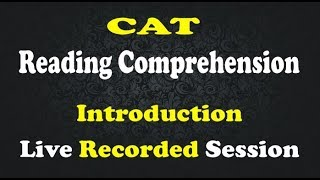 Baixar CAT Reading Comprehension- Recorded Session (4 RC passages)