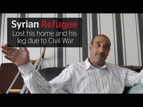 Syrian refugee Hussein's horror: losing his home and his leg
