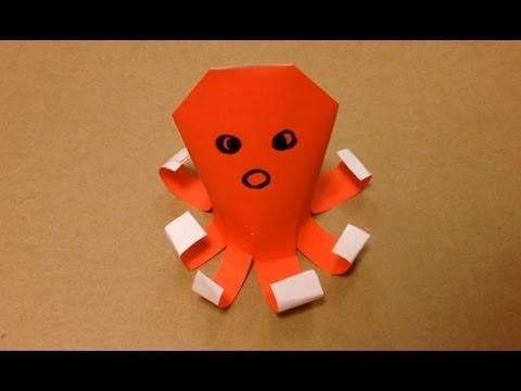 巽属臓奪??脱??達??巽卒?但?? 達?多達?続達?速脱??達??脱?孫 但??脱袖揃達?速巽??達??巽?息誰遜?Origami Octopus easy - YouTube