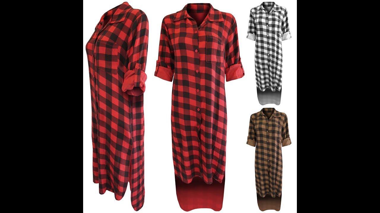 Long shirt long ladies kurta long kurti a hilo checks for New check designs