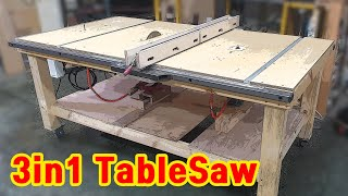 Make a Tablesaw (3in1 ) Router table  jigsaw table