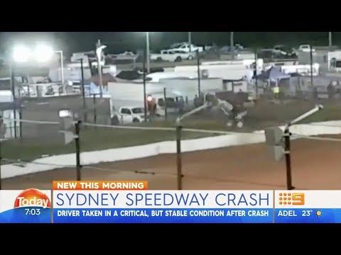 MacKay Horrible Crash Channel 9 | Sydney City Speed Car 50 Lap Classic 2018