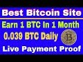 Earn daily Bitcoin/BTC , Free Bitcoin Earning , Live payment proof