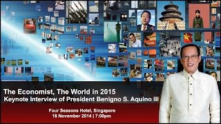 Keynote Interview - The Economist, The World in 2015