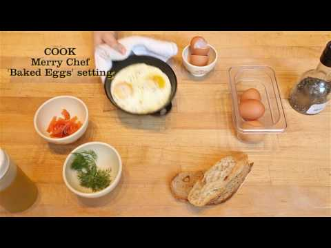 Skillet Baked Eggs – with smoked salmon and dill