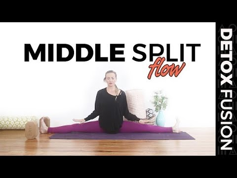 "day 7  yoga for flexibility  side split ""middle splits"