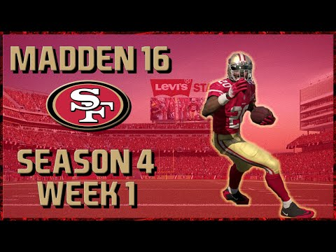 Madden 16 Franchise: San Francisco 49ers | Year 4, Game 1 vs Bears!!