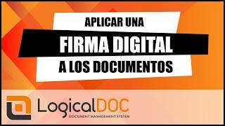 Aplicar una firma digital a los documentos