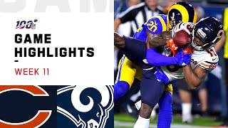 Bears vs. Rams Week 11 Highlights | NFL 2019