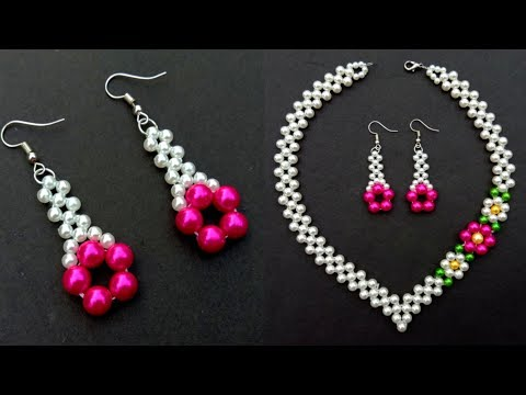How To Make//A Beautiful Pearl Earrings//At Home//  Useful & Easy
