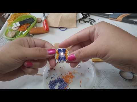 Beading for beginners. 2 needle flat stitch technique