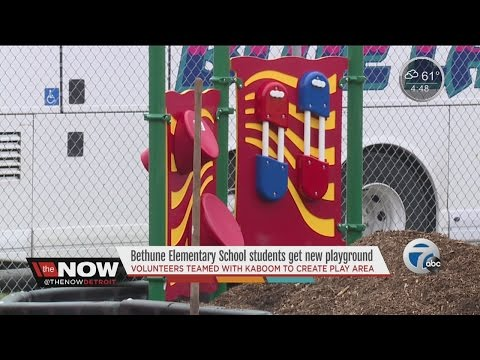 Bethune Elementary in Detroit getting new playground