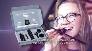 JUPITER try out box - Das kleinste Instrumentenkarussell der Welt