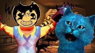 ПРИВЕТ СОСЕД ПРЕВРАТИЛСЯ В БЕНДИ и ЧЕРНИЛЬНАЯ МАШИНА Hello Neighbor Bendy Halloween КОТЁНОК ЛАЙК