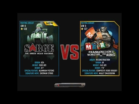 Real Steel WRB Sarge VS METRO (champion) FINAL NEW ROBOT Update Halloween