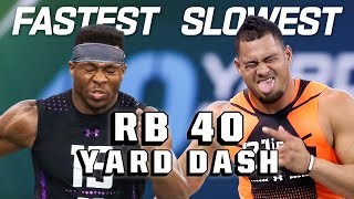 Slowest & Fastest RB 40-Yard Dash Times of the 2010s!