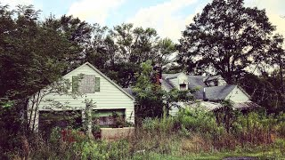 1930's ABANDONED CAPE COD HOME W/ Totally Filled Garage