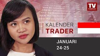 InstaForex tv news: Kalendar Trader Januari 24 - 25: Rapat ECB akan mendorong EUR turun