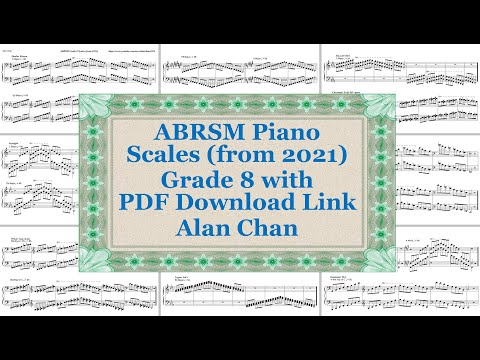 ABRSM Piano Scales From 2021 Grade 8 (Complete)