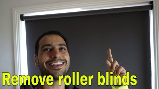 How to remove roller blinds -  window blind roll take down