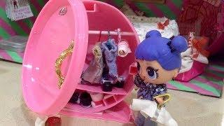 ШКАФ ДЛЯ ОДЕЖДЫ из ШАРА куклы ЛОЛ // A wardrobe for dolls//  DIY // MINIATURE// DOLLHOUSE