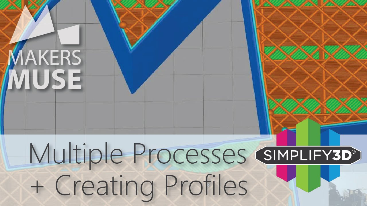 A detailed look at Processes and Profiles in Simplify3D