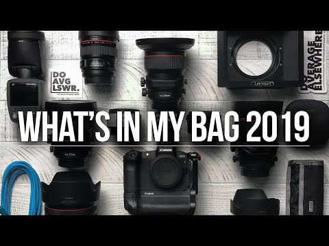 What's In My Camera Bag 2019