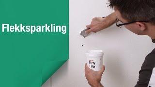 Slik reparerer du hull i veggen med flekksparkling