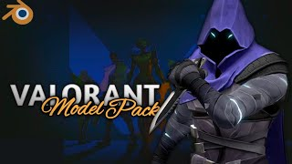 Valorant Blender Model Pack Free Download | Link In Discription | Rey Asalto
