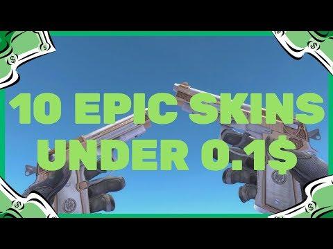 CSGO - Top 10 Skins Under 10 Cents (Best Skins #2)