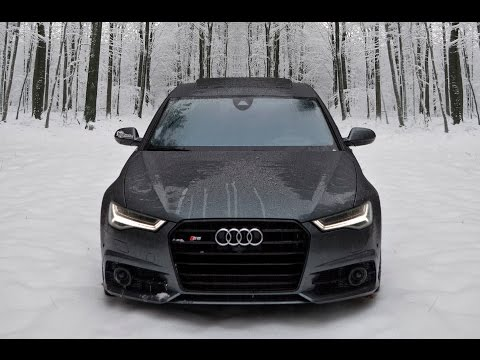 2017 Audi S6 - 450hp V8TT in Snow = FUN. Winter Wonderland!