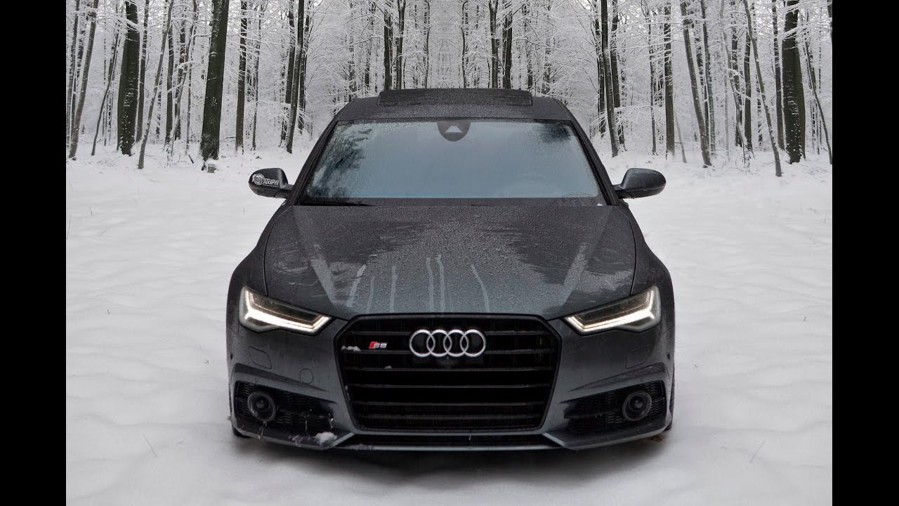2017 audi s6 450hp v8tt in snow fun winter wonderland youtube. Black Bedroom Furniture Sets. Home Design Ideas