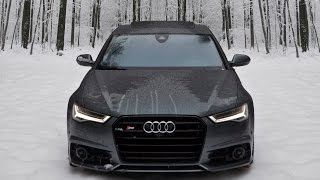2017 Audi S6 - 450hp V8TT in Snow = FUN. Winter Wonderland!