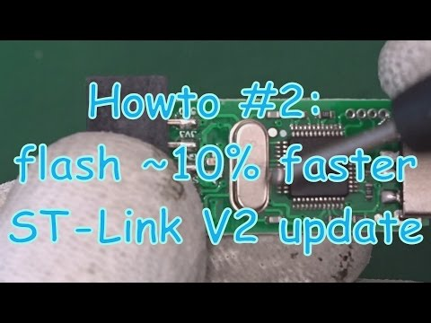 Howto #2: ST-Link V2 update flash 10% faster - YouTube