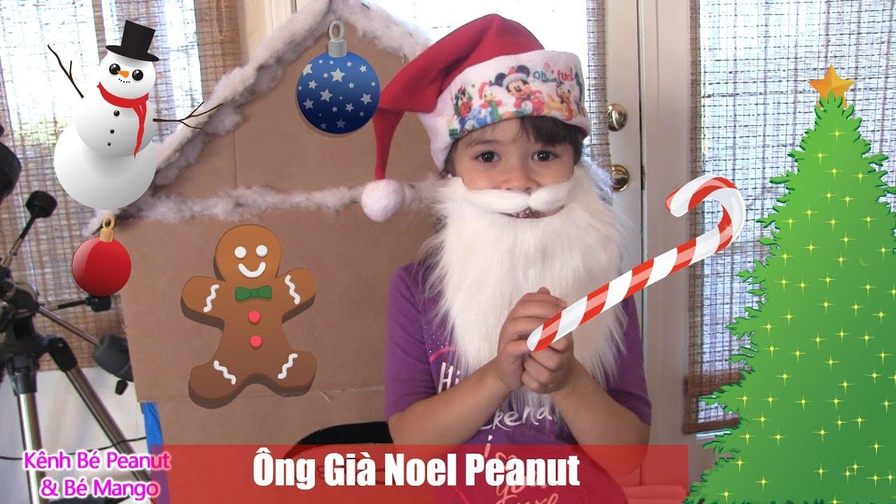 Ông Già Noel Peanut Trang Trí Ngôi Nhà Bánh Kẹo Khổng Lồ Đón Giáng Sinh [kênh bé Peanut]