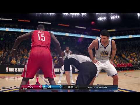 NBA Live 18 Opening Day Houston Rockets vs Golden State Warriors 2017 2018 Season